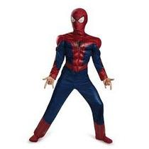 Hombre Araña Disfraz Original Marvel Con Musculos.tallas
