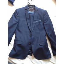 Terno Azul Zara Man Talla 44