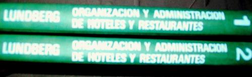 Hoteleria Y Restaurantes. 2 Tomos.$ 21.500.acepto Oferta