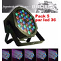 Pack De 5 Focos Par 36 Led Dmx (36x 1w) Alta Luminosidad