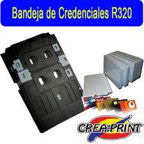 Bandeja Para Imprimir Credenciales Para Epson R320/r200/r220