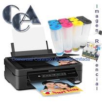 Impresora Xp201 Mas Sistema Continuo De Tinta, Nuevos 100%!!