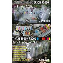 Sistema Continuo Tinta Epson R2000 Mas Tintas De 1/2 Litro