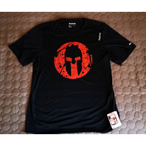 Poleras Camisetas Reebok Crossfit Spartan Race Perform Black