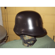 Casco Modelo Aleman Color Negro