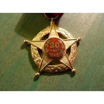 Medalla Bomberos 20 Años