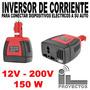 Inversor De Voltaje Para Autos 12v 220v 150w + Usb