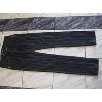 Pitillo Listado Negro Con Gris, Elasticado, Talla 38
