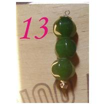Fino Colgante De Bolitas De Jade Facetadas 8mm