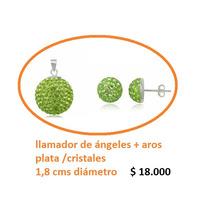 Llamador De Ángeles De Plata925 Cristales**