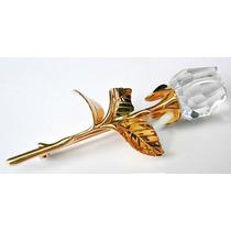 Broche Cristal Swarovski Original Flor Caja Y Certificado
