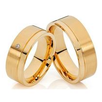 Argollas-anillos De Compromiso -bodas-acero -zircones