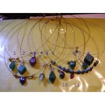 11 Colgantes De De Diferentes Gemas Naturales , Esmeraldas