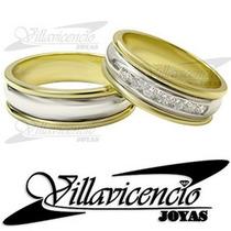Argollas Platino Y Oro 18k 16.5 Gr Fr. 7 Diamantes