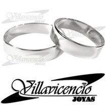 Argollas De Oro Blanco 18k 4.5 Gr Cinta
