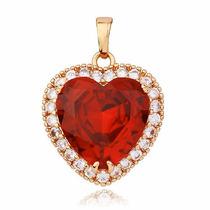 Collar Corazón Titanic,acero/enchapada Oro,joya Envío Gratis