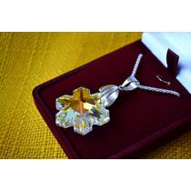 Conjunto Cristal Swarosvski (cadena,pulsera,aros,oro)