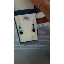 Oferta: Aros De Plata 925 Con Cristales Swarovski Turquesa