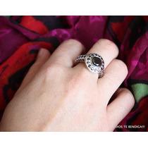 Diamantes Moissanita Negras Anillo Exclusivo N 21