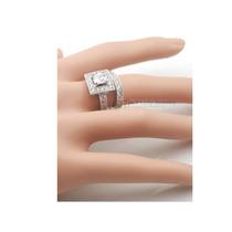 Anillo Compromiso, Plata C/platino, Diamantes Sìntesis.(2).