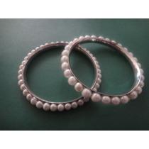 Pulsera Metal Con Perlas