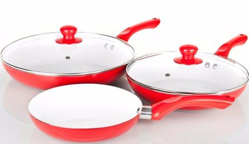 Juego sartenes bateria cocina ceramica 5 piezas de for Ceramica de cocina precios