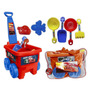 Set Para Playa Disney Cars Con Carrito Arrastre Y Bolsa