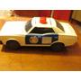 Antiguo Auto Policial De Plastico Made In Japan Llantas Lata