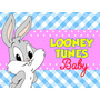 Kit Imprimible Baby Looney Tunes Diseñá Tarjetas Cumples