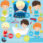 Kit Imprimible Aseo Personal 5 Imagenes Clipart