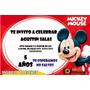 Tarjetas De Invitación De Cumpleaños Mickey Tamaño 10x15