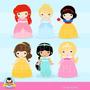Kit Imprimible Princesas Disney Imagenes Clipart