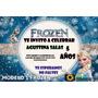 Tarjetas De Invitación De Cumpleaños Frozen Tamaño 10x15