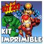Kit Imprimible Escuadron De Super Heroes Cotillón Fiesta