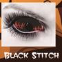 Scleras Escleras 22 Mm Black Stitch +liquidoyestuche Lentes