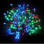 Luces De Navidad Solares, 100 Led Multicolor, 8 Secuencias
