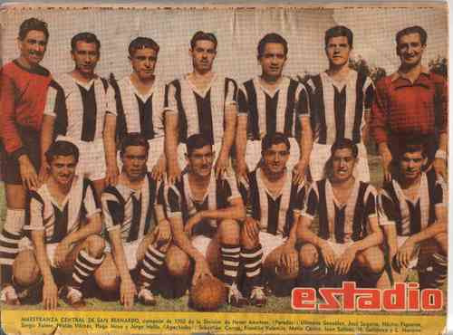 Maestranza Central Sanbernardo Campeon Amateur 1950 Estadio