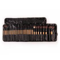 Set De 32 Pinceles, Brochas De Maquillaje + Manta Negra