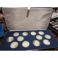 12 Medallas De Napoleon En Plata 999 Estuche Y Catalogos
