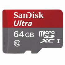 Tarjeta Memoria Micro Sd Sandisk Ultra 64gb Clase 10 80mb/s!