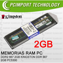 Memoria Ram Ddr2 667 Mhz 2gb Kingston Envio Todo Chile