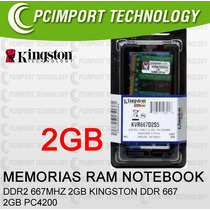 Memoria Ram Notebook Ddr2 667 Mhz 2gb Kingston A Todo Chile