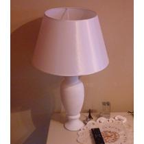 2 Lamparas Velador Dormitorio, Blancas, Con Pantallas