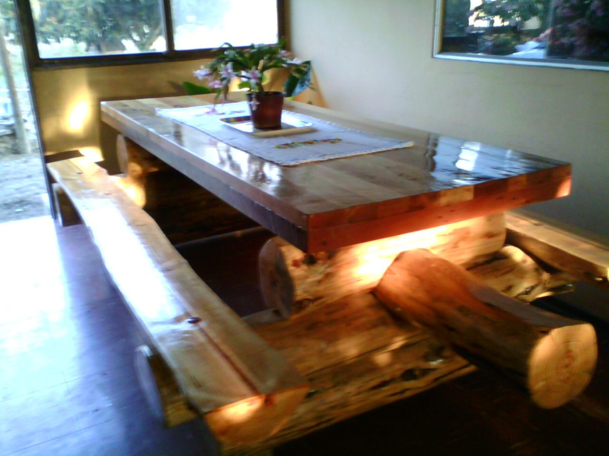 Mesas con troncos dise os arquitect nicos - Mesas de troncos de madera ...