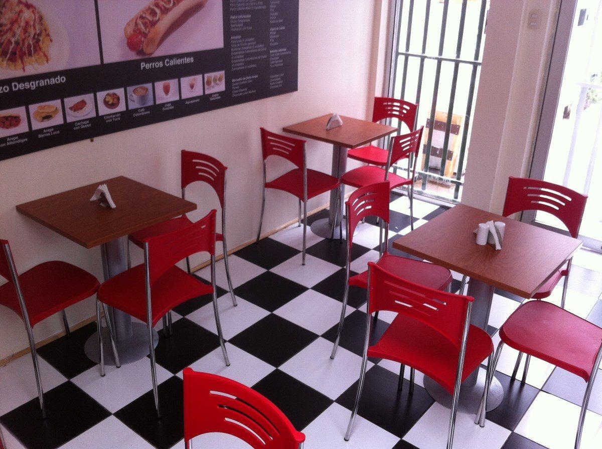 Mesas sillas cafeteria restaurant casinos pub la for Mesas de cafeteria