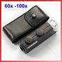 Microscopio De Bolsillo Con Luz Led 60 A 100x