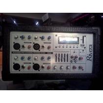Power Mixer Cabezal 4 Canales Usb 300 Watts