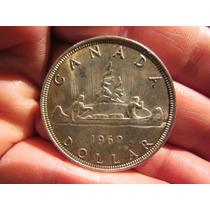 Canada Dolar Plata 1962 Elizabeth Ii Dei Gratia Regina 35 Mm