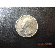Moneda Estados Unidos 1/4 Dollar Plata 1962