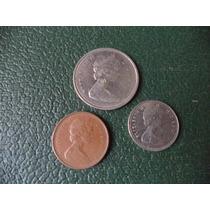 Monedas Canada 1 , 10 , 25 Cents
